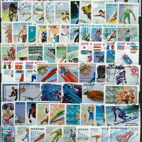 ABL Hiver Sarajevo: 100 verschiedene Briefmarken