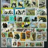 Collection de timbres Ours oblitérés
