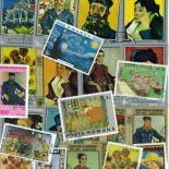 Collection de timbres Van Gogh oblitérés