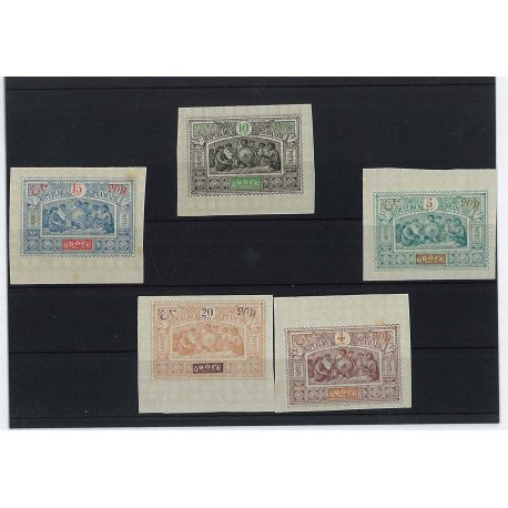 Obock - 5 different stamps