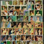 Collezione di francobolli tavole di nudi cancellate