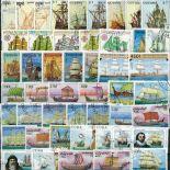 Colección de sellos Viejos Aparejos usados