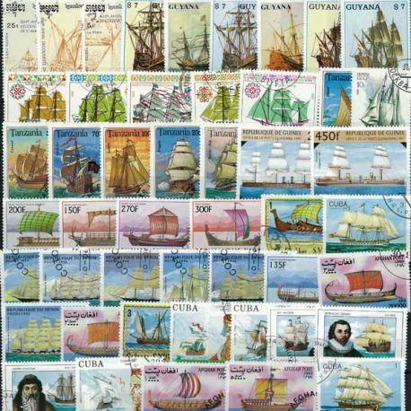 Alte Greements: 50 verschiedene Briefmarken