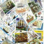 Colección de sellos Veleros usados