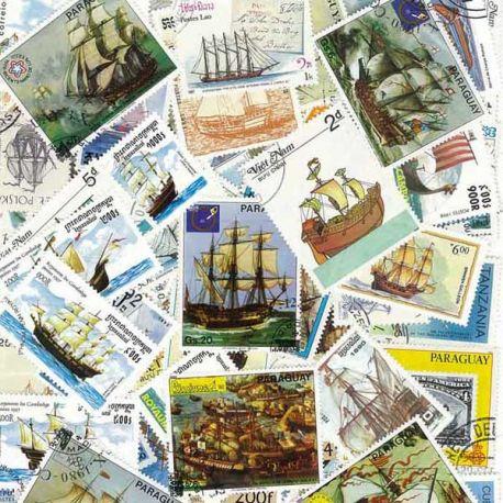 Collection de timbres Voiliers oblitérés