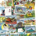 Collection de timbres Walt Disney Mickey oblitérés