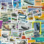 Collezione di francobolli zeppelin cancellati