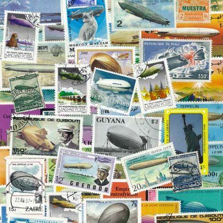 Collection de timbres Zeppelin oblitérés