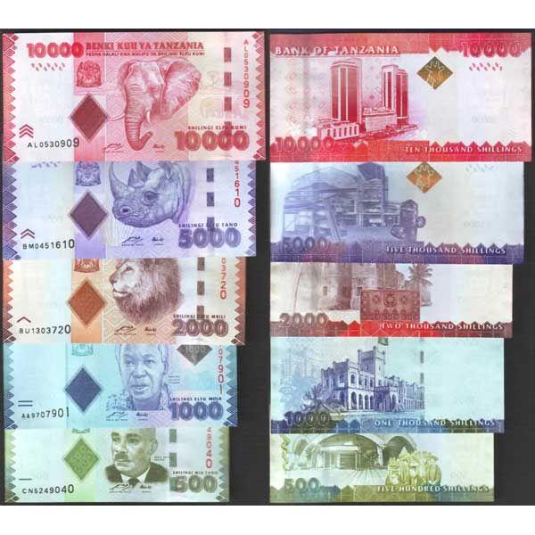 billet de banque tanzanie