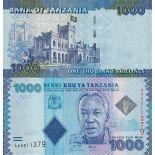 Banknoten Sammlung Tansania Pick Nummer 41 - 1000 Shilling