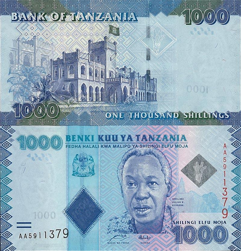 Tanzania 1000 Shillings p-41 2019 new signature UNC Banknote