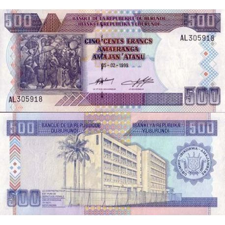 Billets de collection Billet de collection Burundi Pk N° 38 - 500 Francs Billets du Burundi 5,00 €