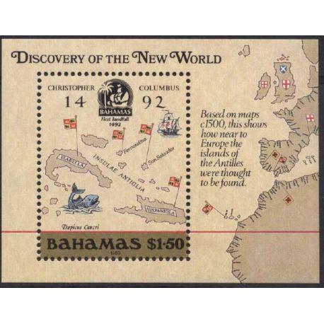 Bahamas - Block Nr. 51 - neun ohne Scharnier