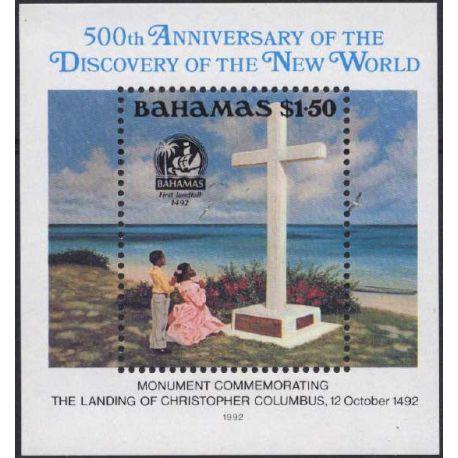 Bahamas - Block Nr. 64 - neun ohne Scharnier