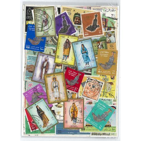 Oman - 50 verschiedene Briefmarken