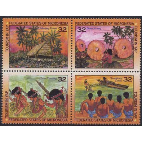 Mikronesien - Nr. 383/86-9 ohne Scharnier