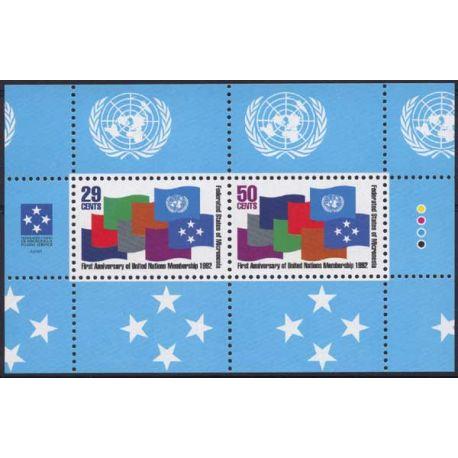 Mikronesien - Block Nr. 13 - neun ohne Scharnier