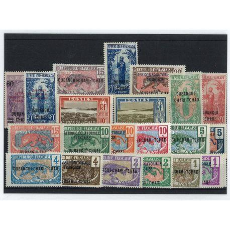 Ubangi - 25 verschiedene Briefmarken