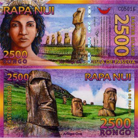 Billet Ile de Paques - 2500 Rongo