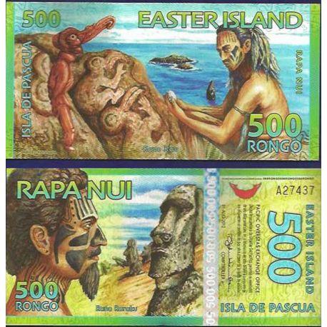 Billet Ile de Paques - 500 Rongo