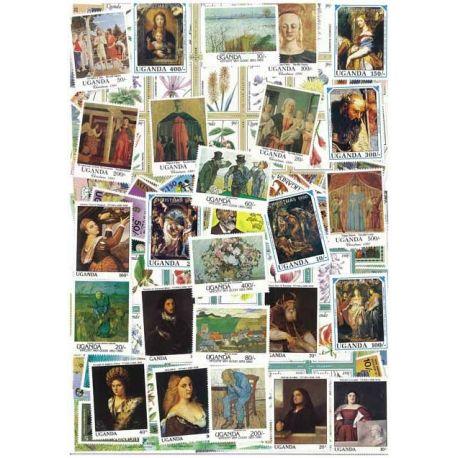 Uganda - 25 verschiedene Briefmarken