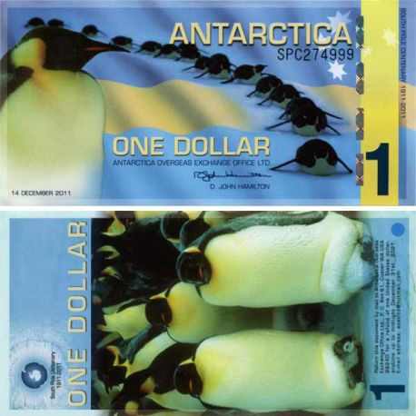 Billet Antarctique - Billet de 1 Dollar Antarctique