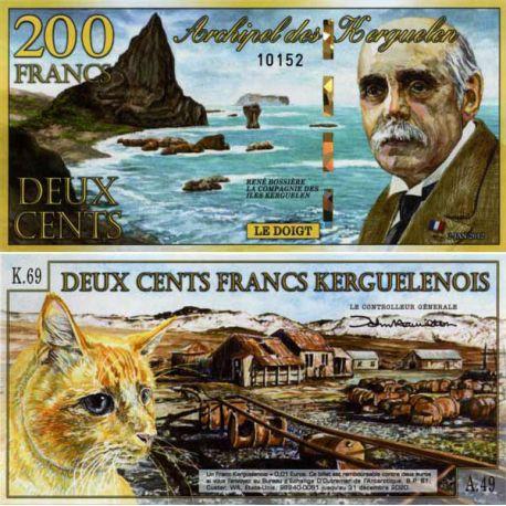 Billet TAAF Kerguelen de 200 Francs