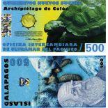 Banconote polimeriche galapagos di 500 zuccheri