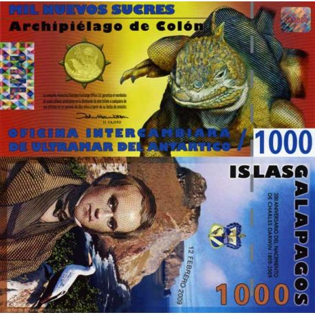 Billets de collection Billet Polymére Galapagos de 1000 Sucres Billets de l'équateur 9,50 €