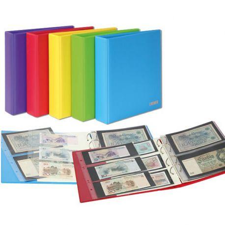 Album pour billets de banque Lindner Publica M COLOR livré avec 10 feuilles