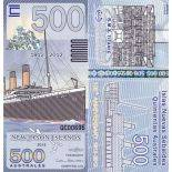 Billet New Jason Islands de 500 australes RMS Titanic