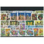 Used stamp collection Uzbekistan