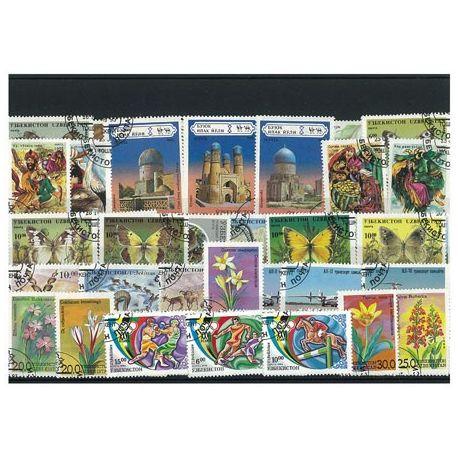 Usbekistan - 25 verschiedene Briefmarken