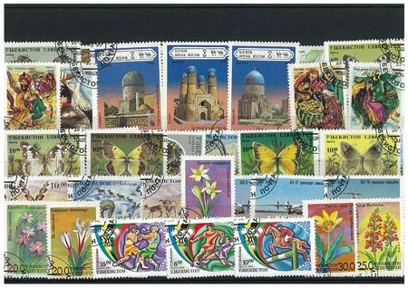 Timbres pour Les collectionneurs ouzb/ékistan 50 diff/érents Timbres