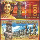 Billet Ile de Paques - 1000 Rongo