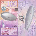Billet New Jason Islands de 100 Australes Hindenburg