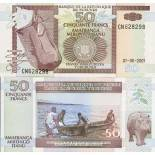 Collection of Banknote Burundi Pick number 36 - 50 FRANC 1993