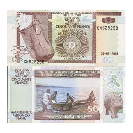 Billets banque Burundi Pk N° 36 - 50 Francs