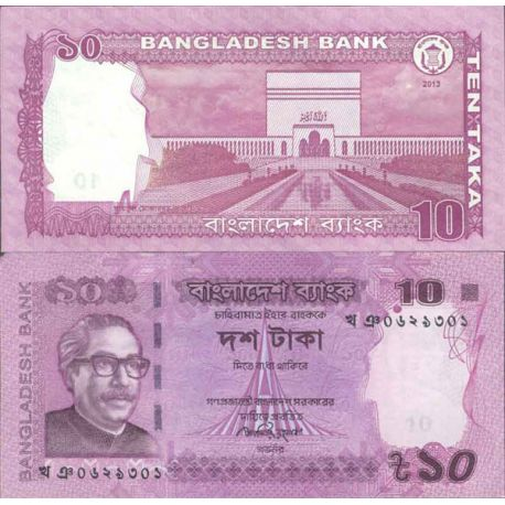 Billet de banque collection Bangladesh - PK N° 999 - 10 Taka