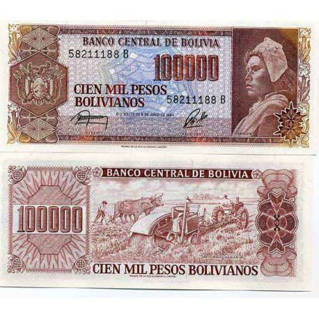 Billet de banque collection Bolivie - PK N° 171 - 100000 Pesos