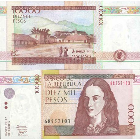Billets de collection Billet de banque collection Colombie - PK N° 453 - 10 000 Pesos Billets de Colombie 10,00 €