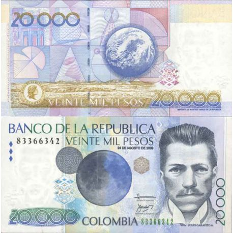 Billets de collection Billet de banque collection Colombie - PK N° 454 - 20 000 Pesos Billets de Colombie 31,00 €