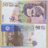 Banconote Colombia Pick numero 455 - 50000 Peso 2009