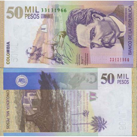 Billets de collection Billet de banque collection Colombie - PK N° 455 - 50 000 Pesos Billets de Colombie 64,00 €