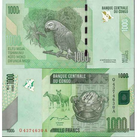 Billets de collection Billet de banque collection Congo - PK N° 101 - 1000 Francs Billets du Congo 6,00 €