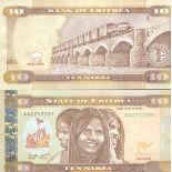 Billet de banque collection Erythree - PK 11 - 10 Nakfa