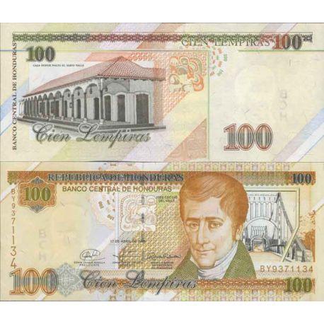 Billets de collection Billet de banque collection Honduras - PK N° 77 - 100 Lempiras Billets du Honduras 13,00 €