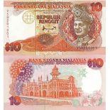 Los billetes de banco Malasia Pick número 36 - 10 Ringgit