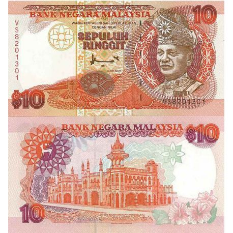 Banknote Malaysia Pick number 36 - 10 Ringgit