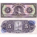 Sammlung von Banknoten Mexiko Pick Nummer 60 - 5 Peso